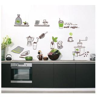 Yêu ThíchDecal dán tường - Giấy dán tường - dán bếp - PHA CHẾ COFFEE - AY7029