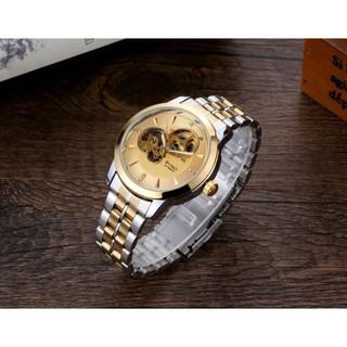 🕰FREESHIP🕰 Đồng hồ cơ nam byino automatic quý tộc dây thép không gỉ cao cấp