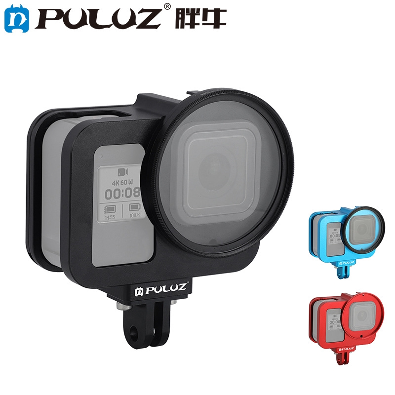 PULUZ for GoPro HERO8 Black Housing Shell CNC Aluminum Alloy Protective Cage