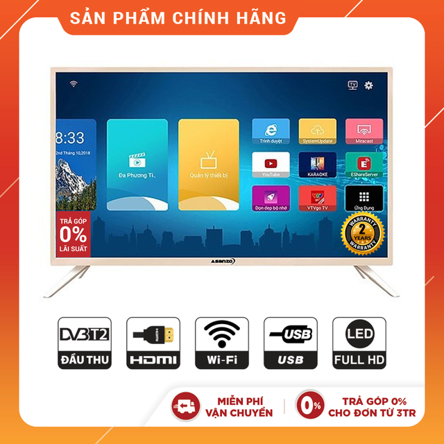 Smart Tivi Asanzo 43 inch Full HD 43AS560 - Phân Phối Chính Hãng