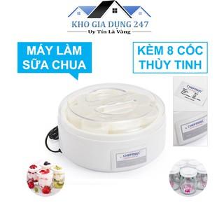 Máy làm sữa chua Chefman Cao Cấp -  8 cốc thủy tinh -  Bảo hành 24 tháng - HÀNG CHÍNH HÃNG
