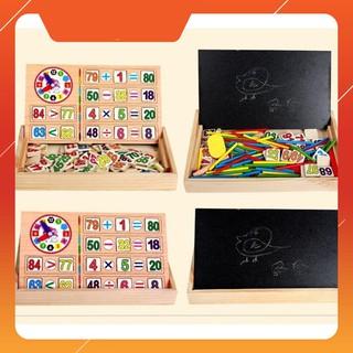 [CÓ SẴN] Bảng gỗ 2 mặt dạy bé học toán