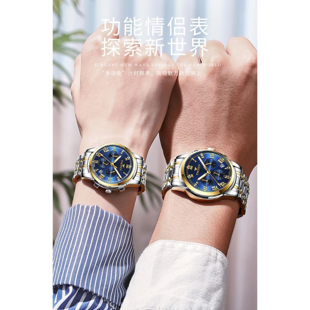 Đồng Hồ Nam Nữ Cặp Đôi Lịch Ngày FNGEEN ( Mã: FN131)