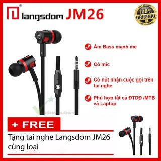 ( COMBO ) - Tai nghe Langsdom JM26 Super Bass - Mua 1 TẶNG 1