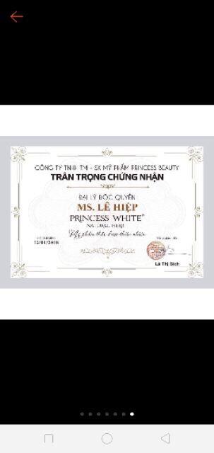 KEM TẨY TẾ BÀO CHẾT DA MẶT TRÁI BƠ PRINCESS WHITE