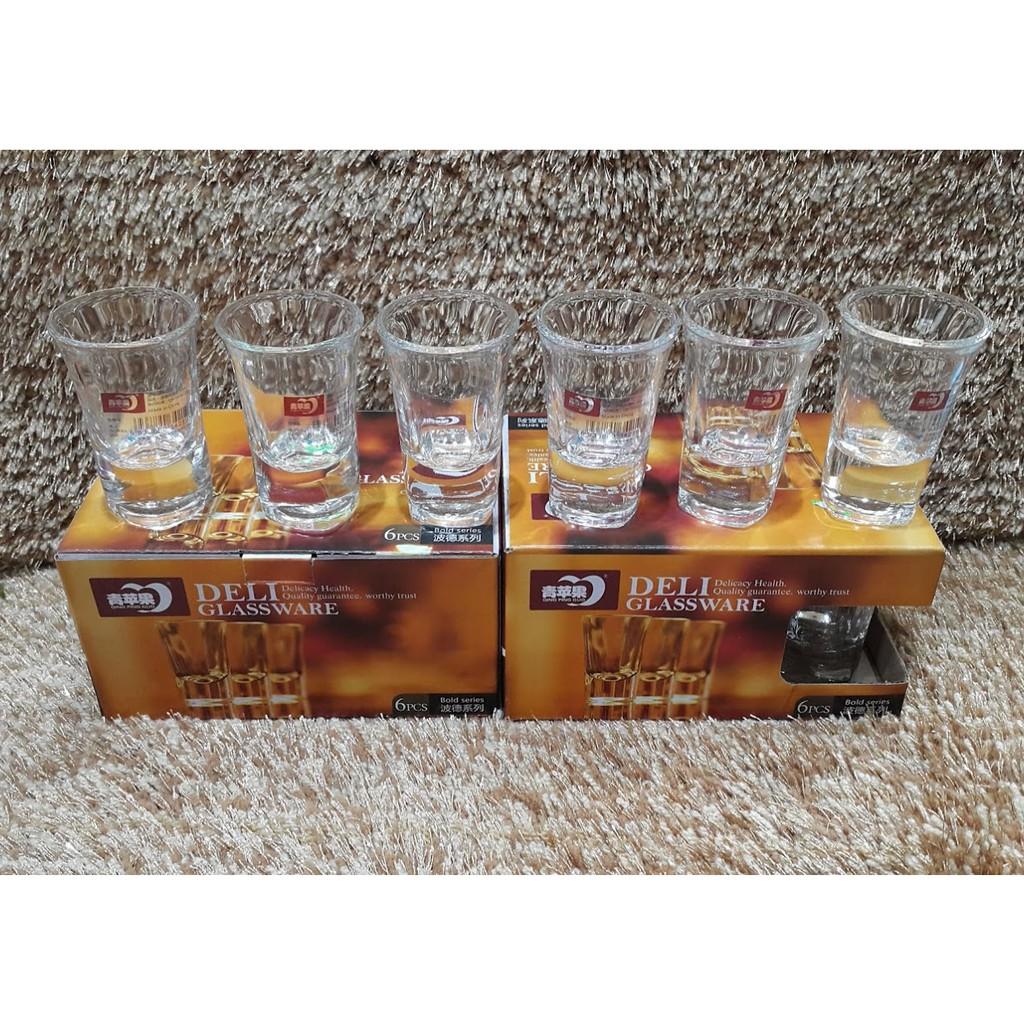 Bộ 6 ly uống rượu Deli