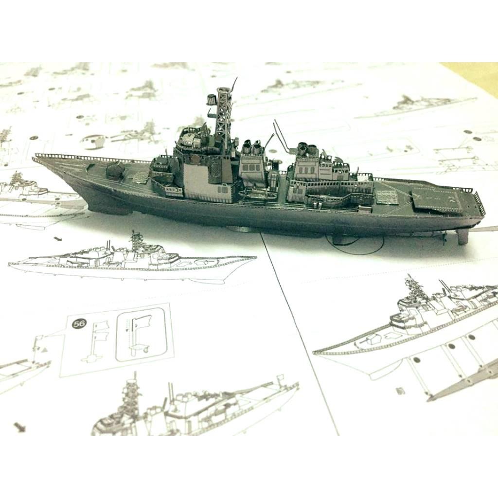 Mô hình kim loại lắp ghép lắp ráp trang trí 3D- Tàu Chiến Tàu Khu Trục Kongo(Tặng dụng cụ lắp...