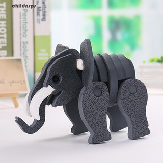 Fashion 3D Cartoon Elephant Model Building Block Toy Kid Birthday Education Gift