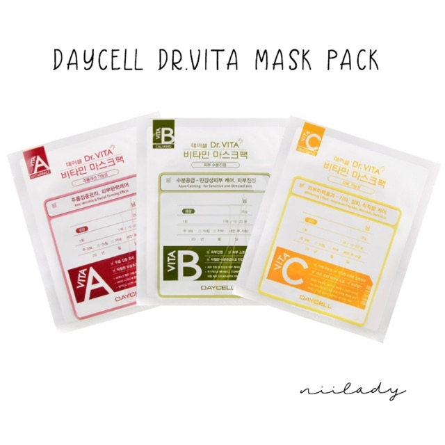 Mặt Nạ Giấy Daycell Dr.Vita Mask Pack