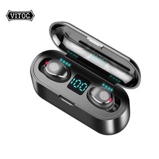 Tai nghe Vitog F9 TWS bluetooth 5.0 không dây tích hợp micro