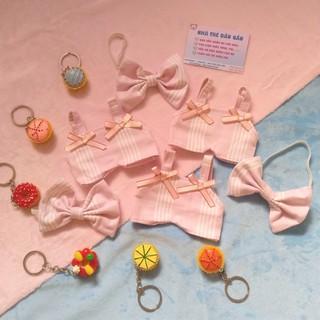 Outfit Doll 15cm – Yếm nơ hồng