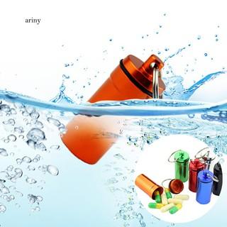★Portable Travel Mini Waterproof Medicine Pill Box Keychain Key Ring Bag Decor