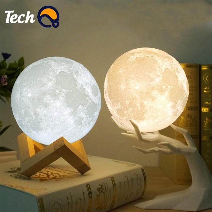Máy xông tinh dầu hình mặt trăng 300ml, máy phun sương tạo độ ẩm cao cấp tặng 1 lọ tinh dầu dùng thử - BH 12 tháng