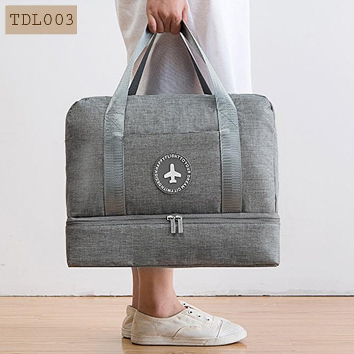 Túi du lịch không thấm nước hai ngăn đựng đồ khô ướt, ngăn đựng giày tiện ích Dream Travel TDL003