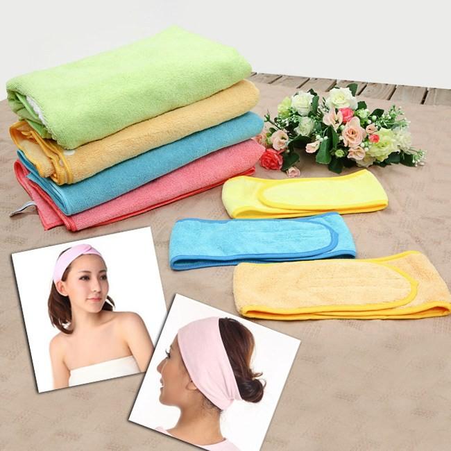 Combo băng đô dán rửa mặt và khăn tắm (40cm x 80cm) - Nhà Đẹp