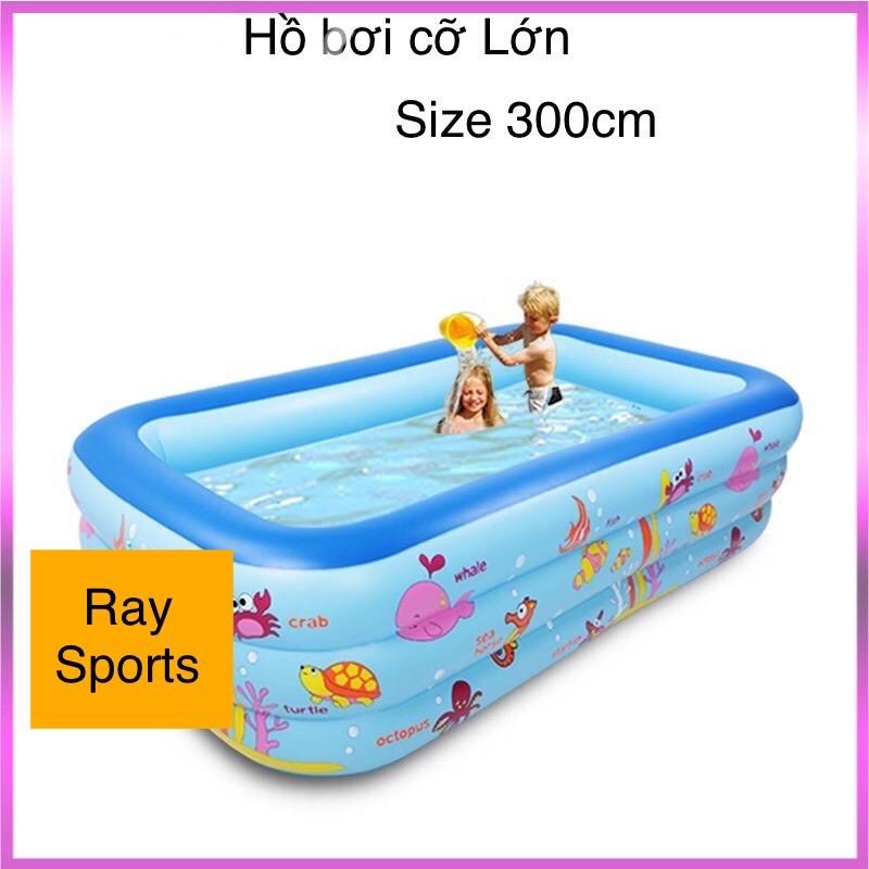 Bể Bơi Phao Cho Bé Kích Thước Lớn,hồ Bơi Trẻ Em Loại To 305cm, Tặng Kèm Kính Bơi – RAY SPORTS