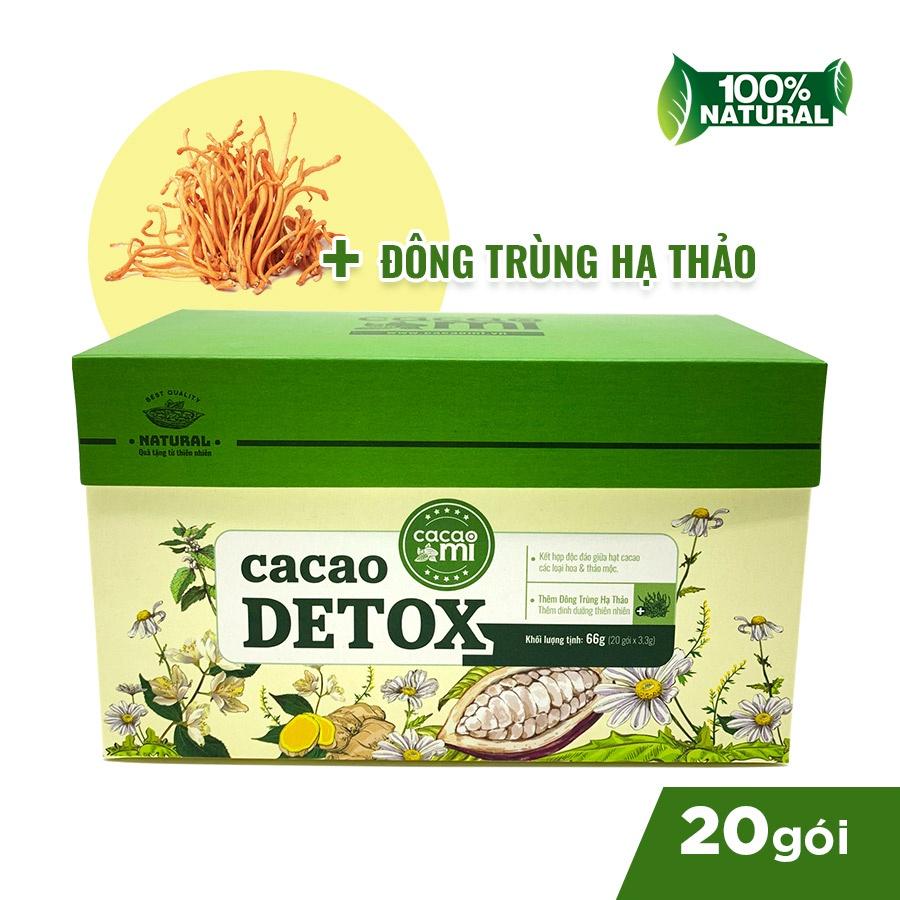 Hộp 20 gói Cacao Detox CacaoMi giảm cân, thanh lọc cơ thể, đẹp da, chống lão hóa 66g