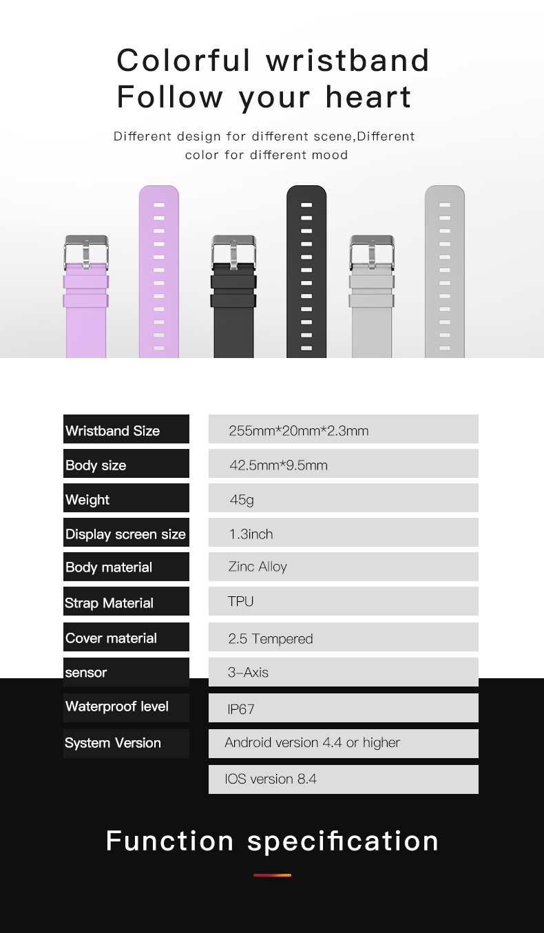 Đồng Hồ Thông Minh W8 Chống Nước Kết Nối Bluetooth Cho Điện Thoại Ios Android