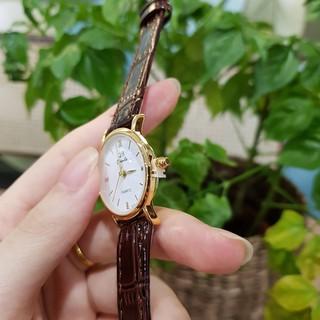 Đồng hồ nữ dây da thời trang đẹp Qianba chống nước mặt nhỏ