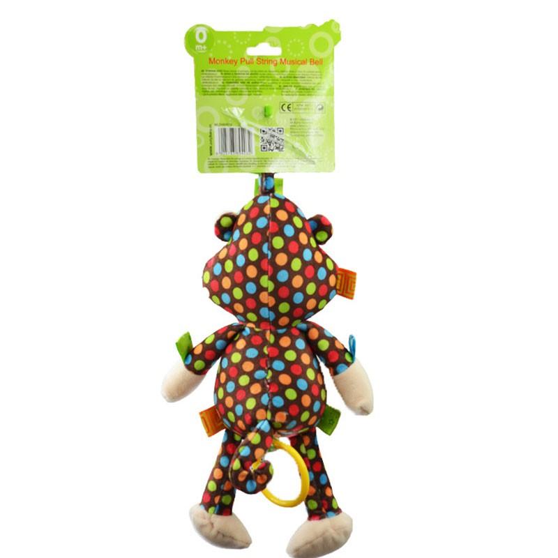 Sozzy Children Toys Newborn Crib Baby Stroller Bed Handing Bell Monkey Soft Infant Appease Kids Plush Toy
