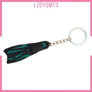 Diving Key Chain Key Ring Enthusiast Car Motorcycle Keys Charm Holder White