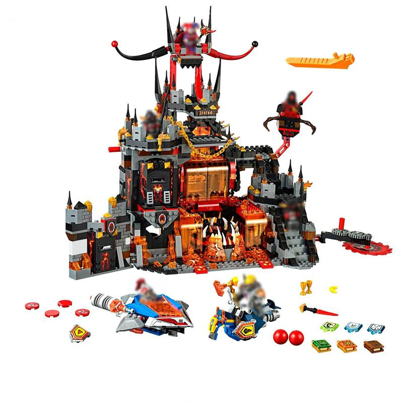 Compatible With Nexo Knights 70323 1244pcs LEPIN BELA 14019 JESTRO'S VOLCAN