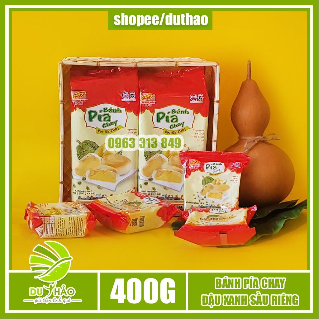 Bánh pía chay đậu xanh sầu riêng truyền thống Tân Huê Viên 400g