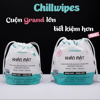 Khăn mặt khô Chillwipes dùng 1 lần lau khô, lau ướt – Giấy lau mặt dùng một lần