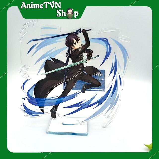 Tượng Mica Standee anime/manga Sword art Online - SAO - Nhựa Cứng Acrylic In nhiều chi tiết sắc nét có bảng tên nhân vật
