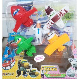 Đồ chơi đội bay biến hình superwings 5 nhân vật