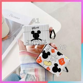 Vỏ Bảo Vệ Hộp Đựng Tai Nghe Airpods Pro Hình Chuột Mickey Có Dây Đeo Chống Thất Lạc Ốp