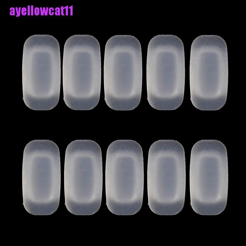 AYC 5 Pairs silicone eyeglass sunglasses glasses nose pads soft rectangle vision