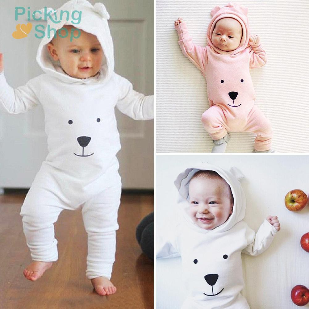 Baby Rompers Cotton Cute Bear Jumpsuit One-Piece Clothing Warm Daily Wear