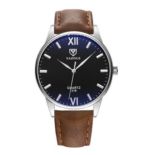 Đồng hồ nam YAZOLE 318 dây da cực chất