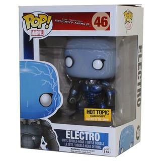 Đồ chơi mô hình Funko Pop 46 Electro – Metallic Glow – Hot Topic – Marvel ( Hàng real chính hãng )