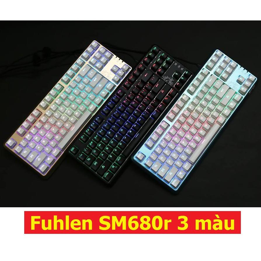 Phím cơ Fuhlen sm680r đen led RGB
