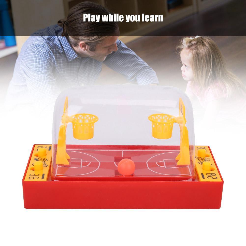 Justgogo Kids Finger Ball Basketball Football Shooting Game Desktop Family Party Playing Board Game Toys for Child Boy G