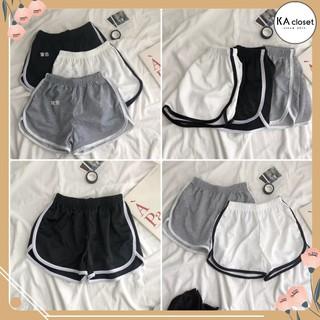 Quần Short Viền Đùi KA CLoset Shorts thể thao dáng ngắn năng động trẻ trung màu đen Ulzzang HOT thumbnail