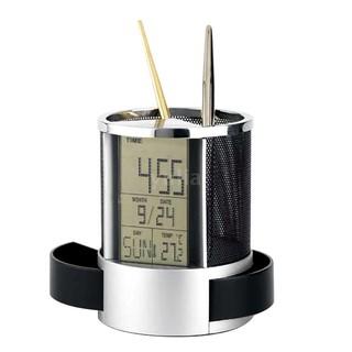 Giá đựng bút dạng lưới có màn hình lcd hiển thị đồng hồ/lịch/nhiệt độ