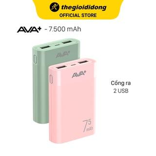 Pin sạc dự phòng 7500mAh AVA+ LJ JP199 thumbnail