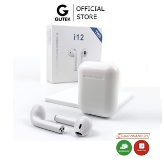 Tai nghe bluetooth không dây Gutek i12 TWS điều khiển cảm biến âm thanh HIFI cho Android iOS