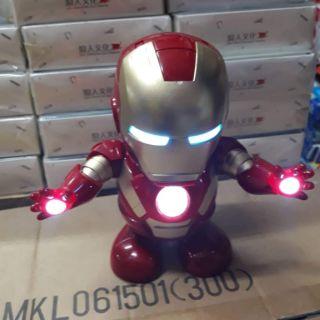 Robot Iron Man DanCing -Robot tự nhảy múa có đèn, có nhạc
