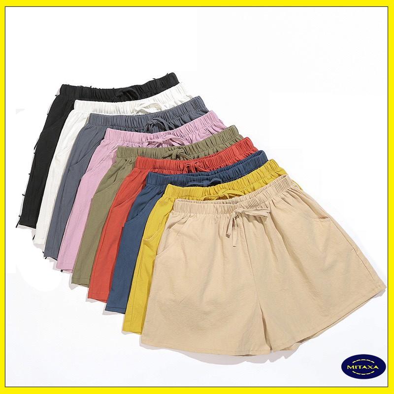 Quần short nữ, quần đũi - cạp chun co dãn - QĐ01