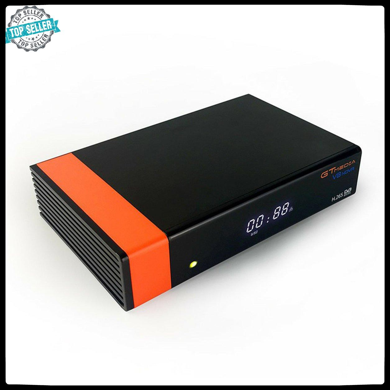 [hàng mới về] V8 Nova Network Set-Top Box Built-In Wifi Scart Interface Supports H.265 Black