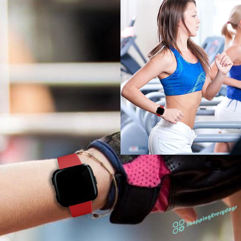 Dây Đeo Thay Thế Chất Liệu Tpu Thiết Kế Sọc Gân Nổi Cho Fitbit Versa