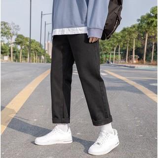 Quần Jeans, baggy jean đen nam ống suông, rộng, hottrend 2021