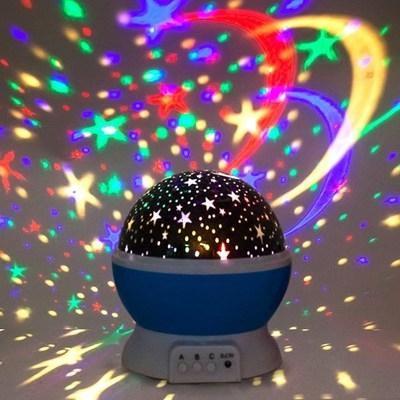 Đèn Ngủ Chiếu Sao Tự Xoay  Freeship  đèn ngủ để bàn, Đèn trang trí phòng ngủ