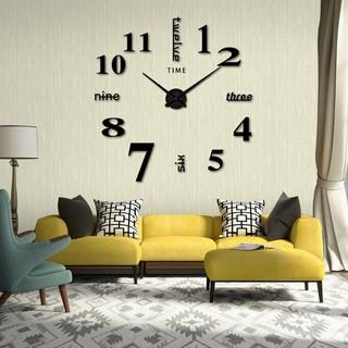 Đồng hồ dán tường siêu chất FREESHIP Đồng hồ treo tường tráng gương xen chữ (loại lớn), có thể tùy chỉnh theo ý 8805