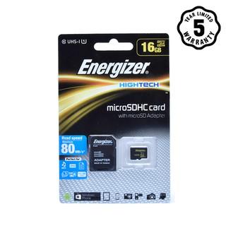 Thẻ nhớ Micro SDHC 16GB Energizer HT C10 U1 80Mb s - FMDABH016A thumbnail