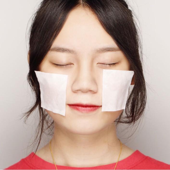 100 miếng bông tẩy trang Cotton Pads Hàn Quốc